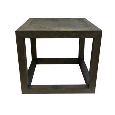 Restoration Hardware Square Herringbone End Table