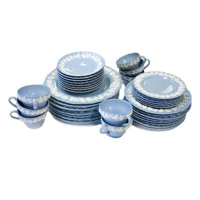 30 Piece Wedgwood Barlaston White on Blue