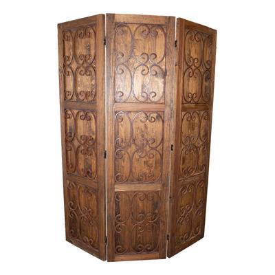 Rustic Wooden 3 Panel Divider
