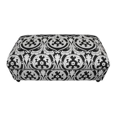 Custom Black and White Ottoman