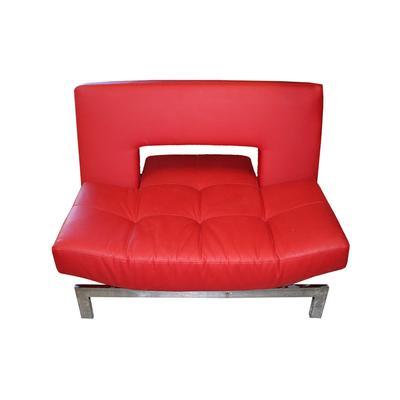 Copenhagen Red Leather Chair/ottoman