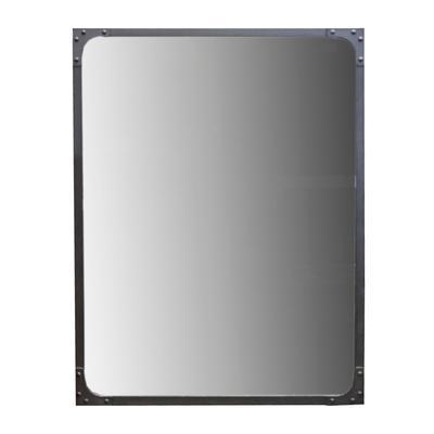Restoration Hardware Black Metal Mirror