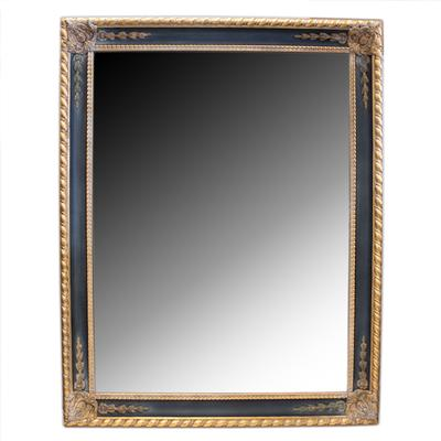 Bevel Black Gold Frame Italy Mirror