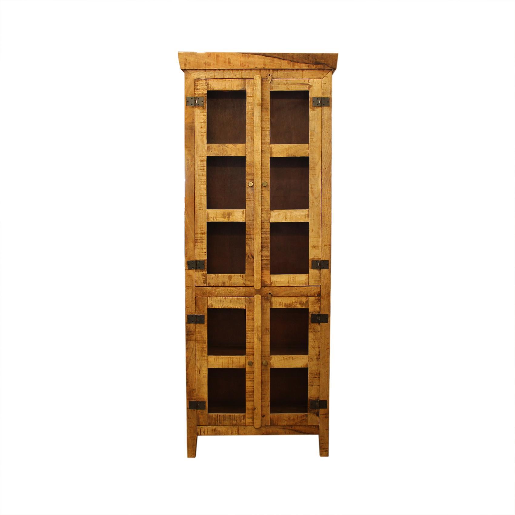 Entertainment Curio Pinewood Cabinet