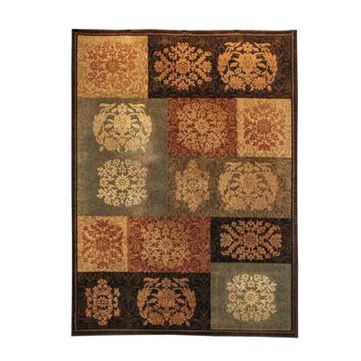 Dalyn Brown Botanical Pattern Rug