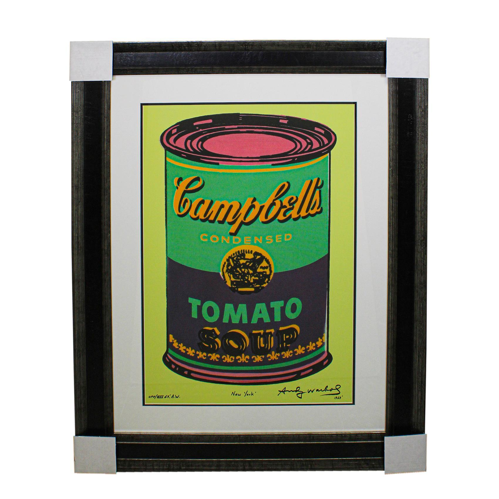Andy Warhol Campbells Tomato Soup Pop Art Print