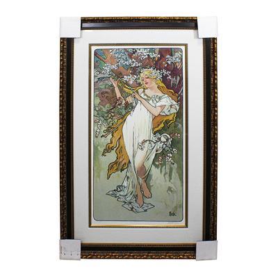 REDUCED Mucha Spring Framed Signed Art Print