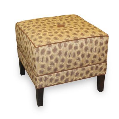 Cheetah Print Fabric Ottoman