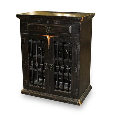 Rustic Wooden Wine Cabinet