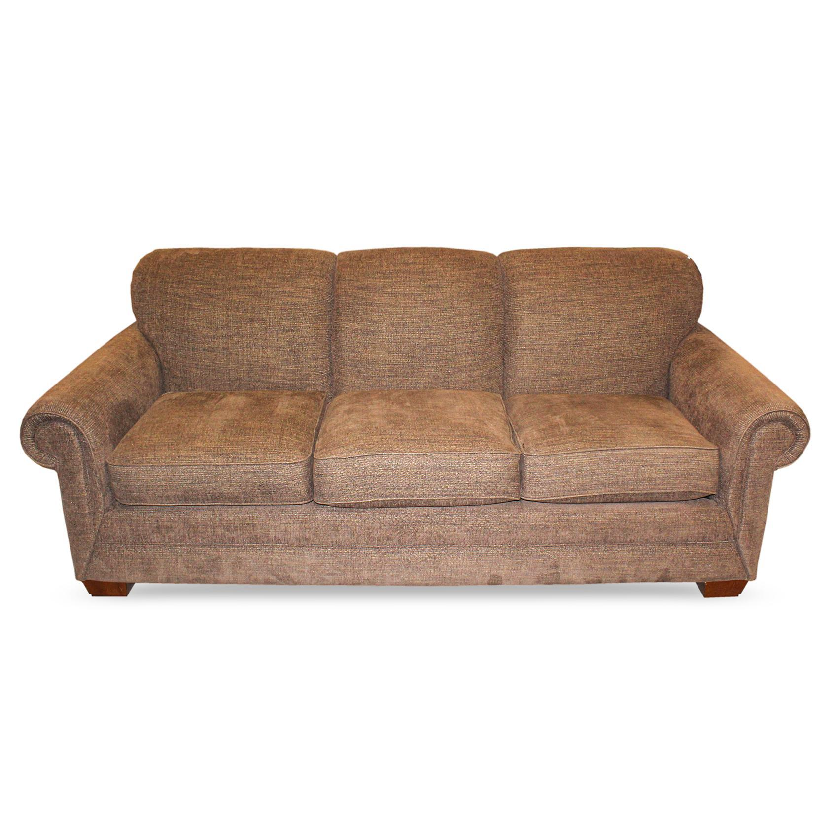 La Z Boy Brown Fabric Sofa