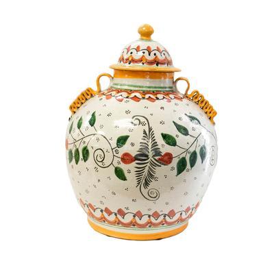 Mexican Talavera Ceramic Pottery Jar