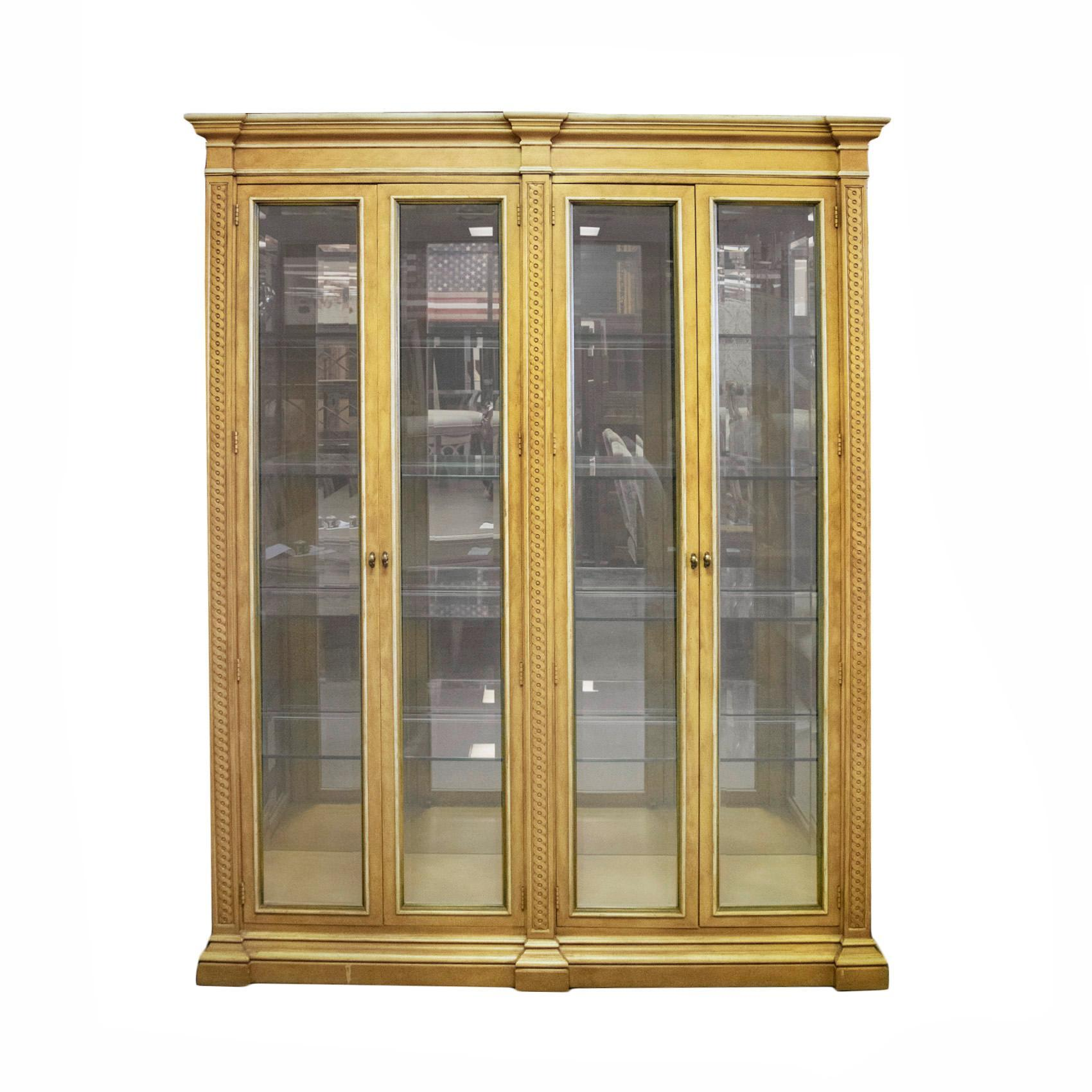 Henredon Double Sided Glass Cabinet