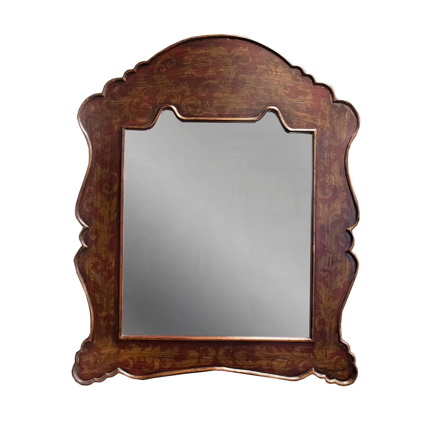 Sculpted Wood Mirror