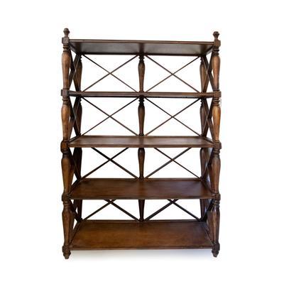Ballard Design Wood Spindle Shelf