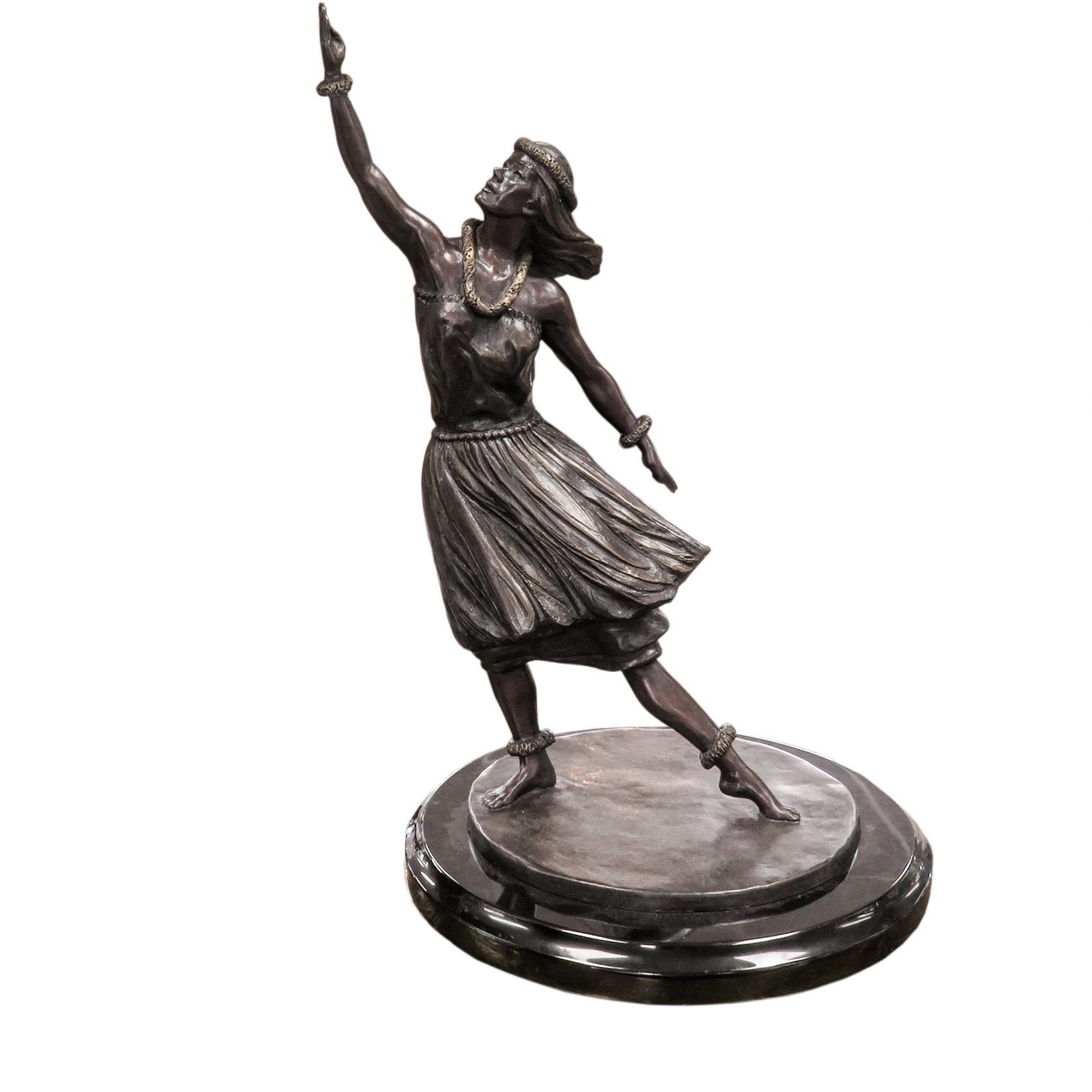 Joel Nakila Hula Bronze Sculpture