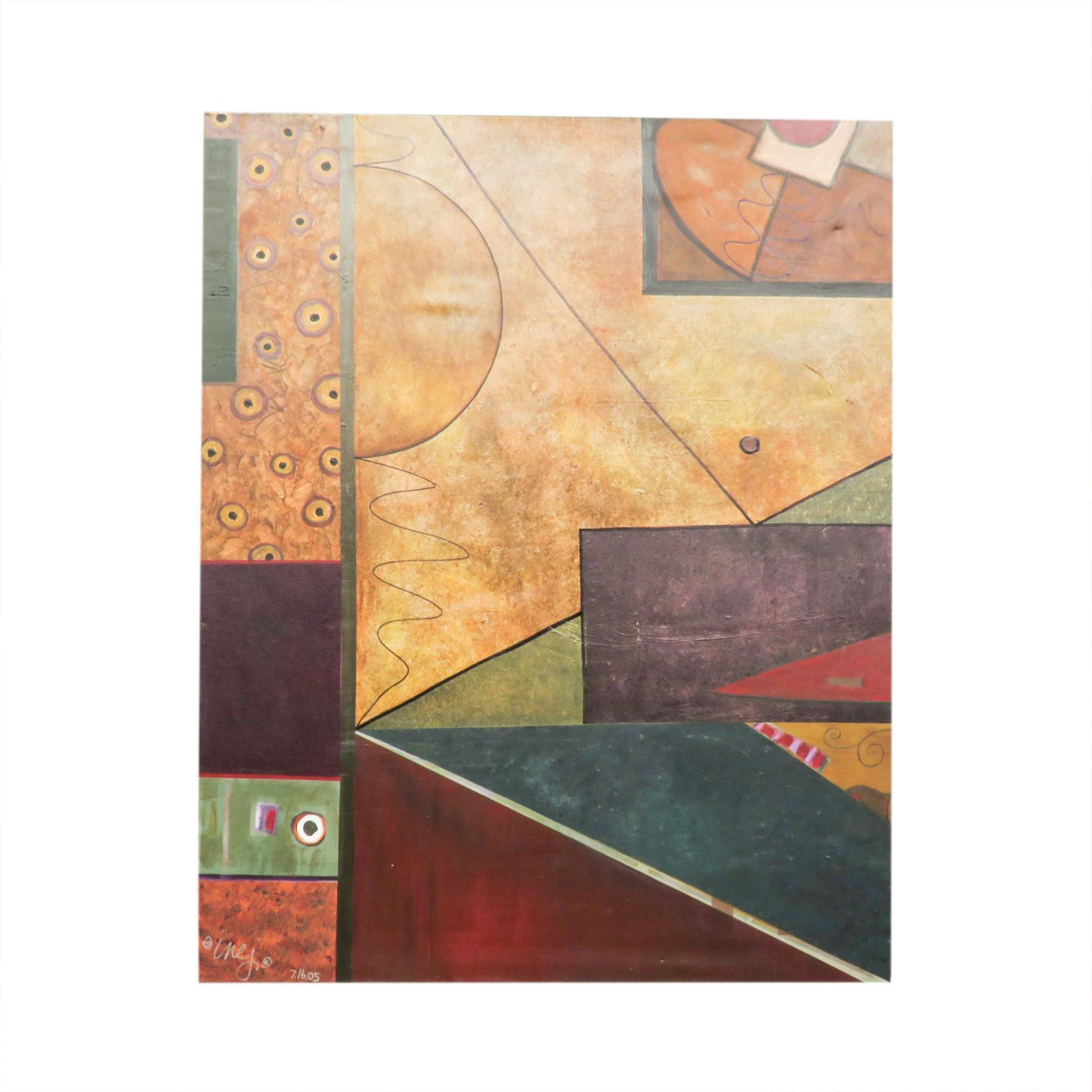 Signed Original Abstract Framed Wall Art