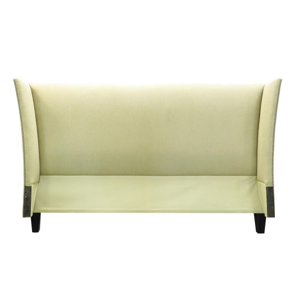 Ladlows Custom Upholstered Nailhead King Bed Frame
