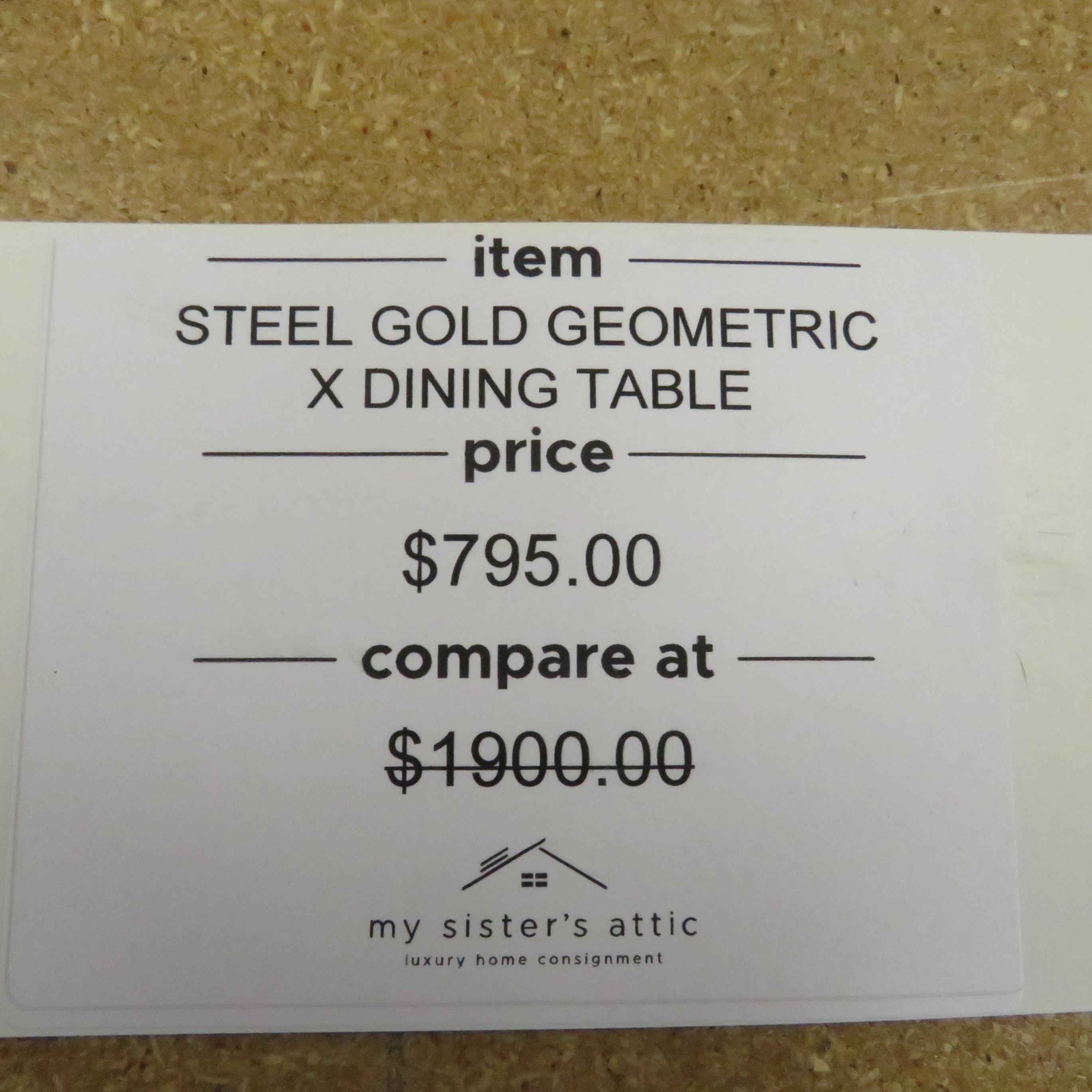 Geometric X Dining Table