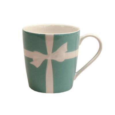 Tiffany White Ribbon Mug