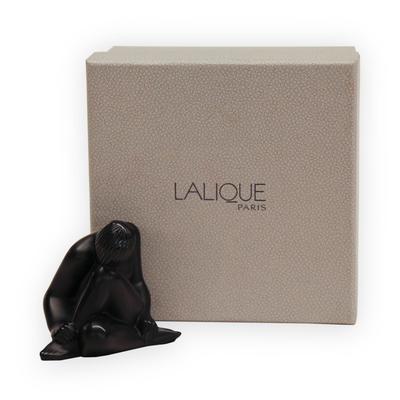 Lalique Black Crystal Nude Figurine