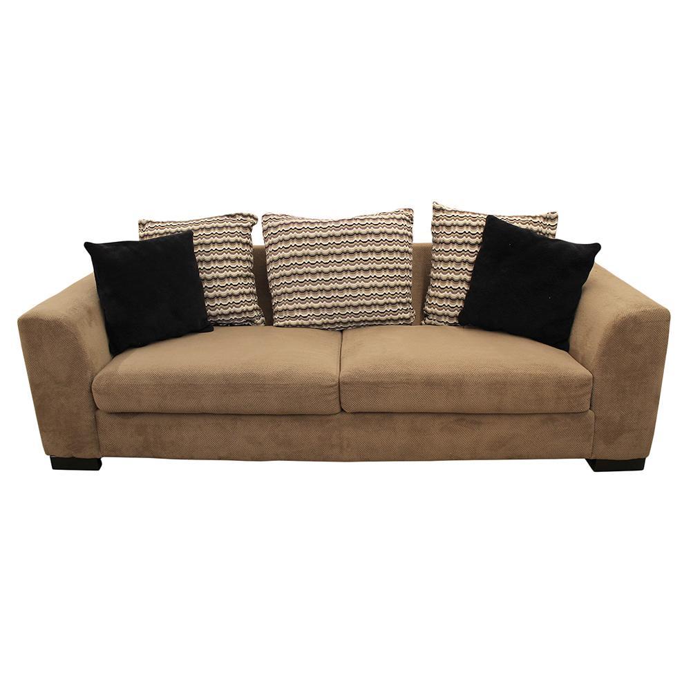 Chenille Pillow Back Sofa