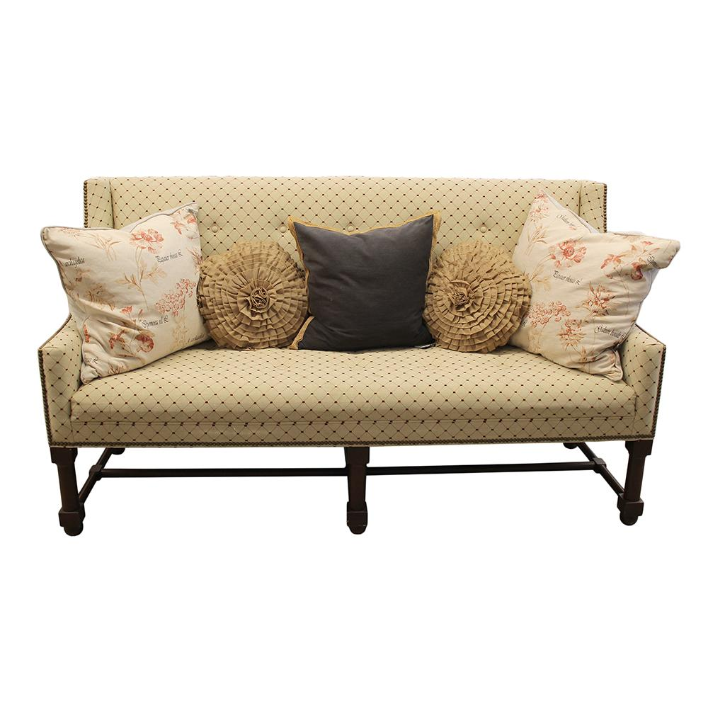 Custom Dot Bench With Pillows