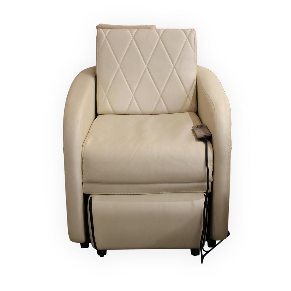 Osim White Leather Massage Chair