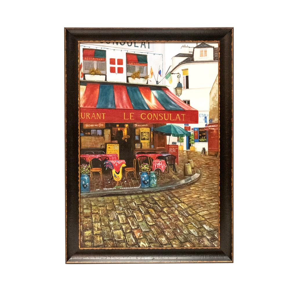 Framed Cantillo Cafe Scene Print