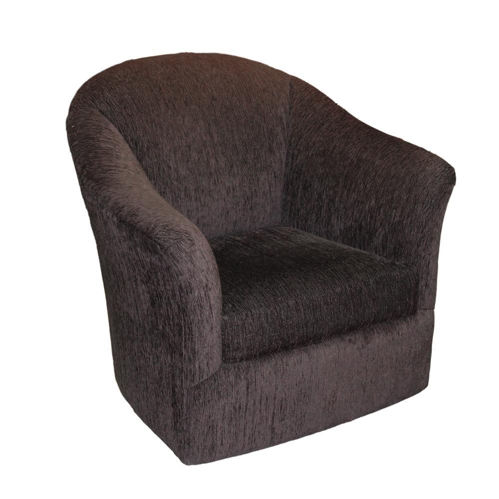Sherril Swivel Chocolate Brown Barrel Chair