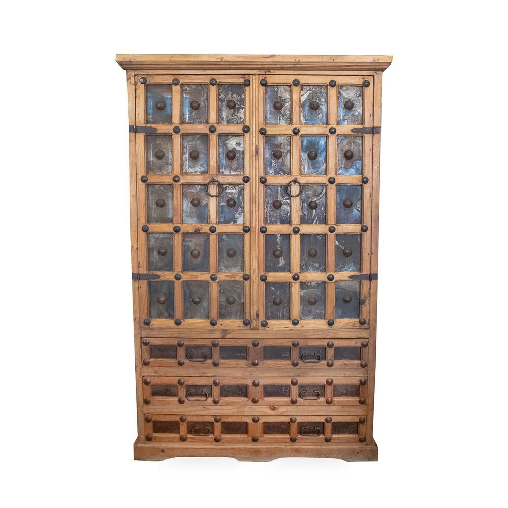 Wood & Tin Clavos Armoire