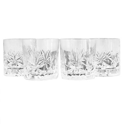 Set of 4 Old Fashioned Star of Edinburgh Glasses