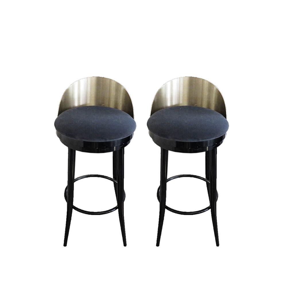 Pair Of Modern Swivel Barstools