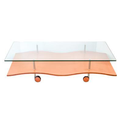Modern Wood & Glass Surface Coffee Table