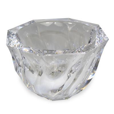Orrefors Swirl Crystal Bowl