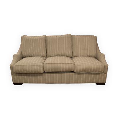 Hammary Scoop Arm Stripe Sofa
