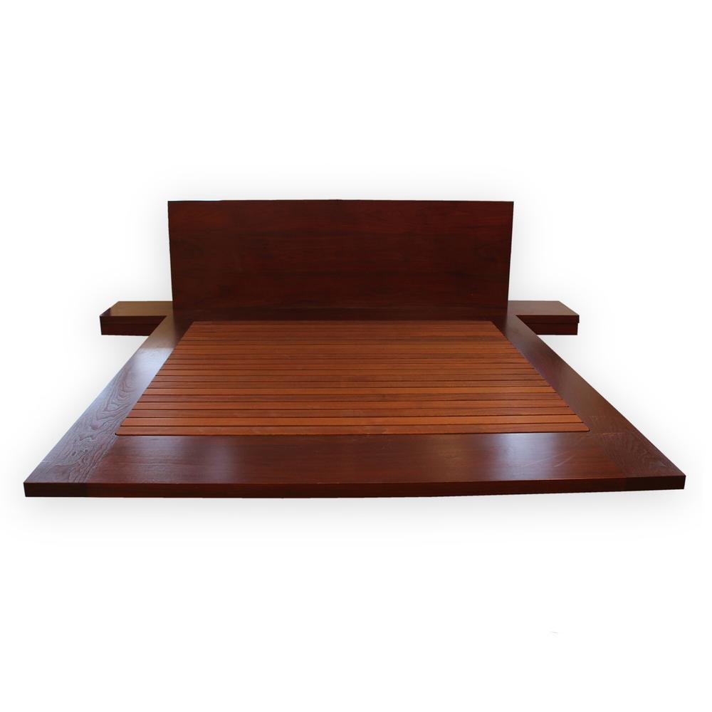 Custom King Teak Platform Bed