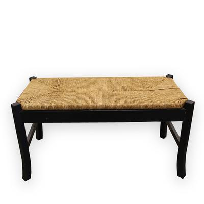 Black Wicker Bench