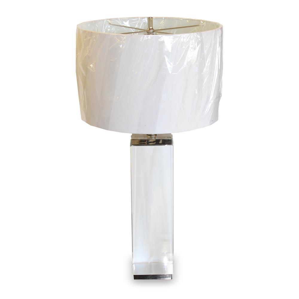 Restoration Hardware Square Column Crystal Table Lamp