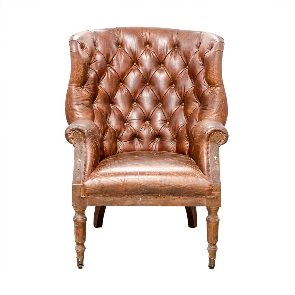 Washington Dovetail Leather Tufted Chair