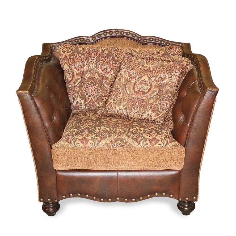 Schnadig Leather & Fabric Armchair