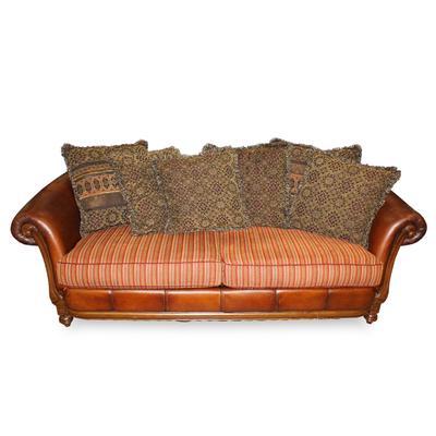 Ladlows Custom Leather Fabric Sofa