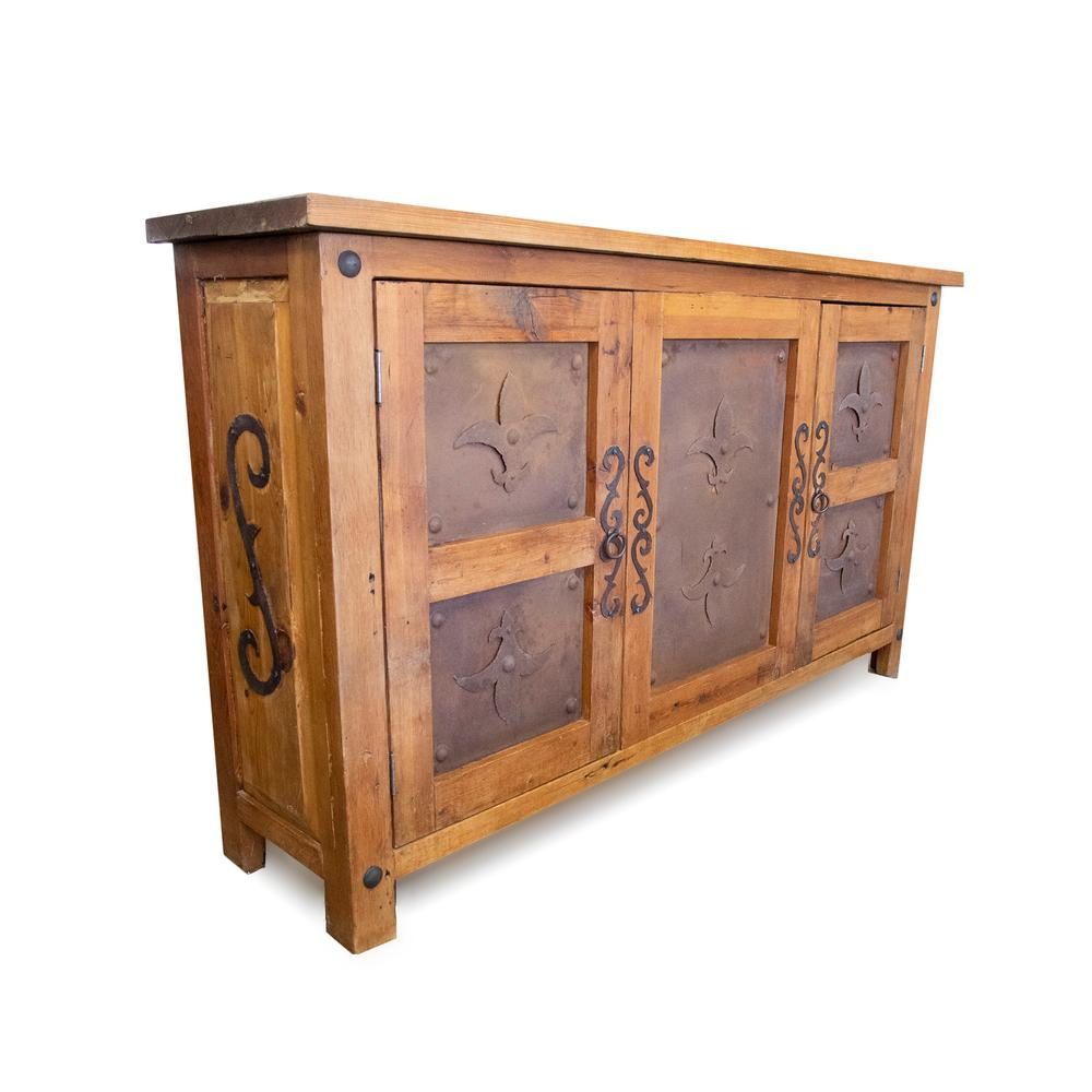 Link Rustic Wood Fleur De Lis Detail Buffet