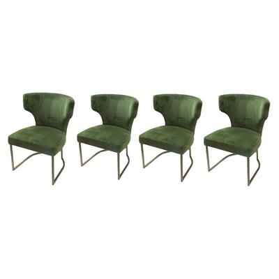 Set of 8 Sunpan Dining Chairs