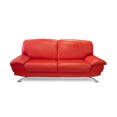 Palliser Red Leather Sofa