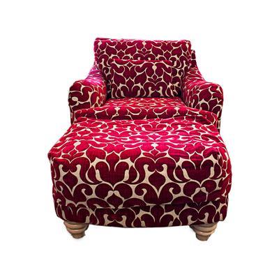 Custom Upholstered Chair & Ottoman