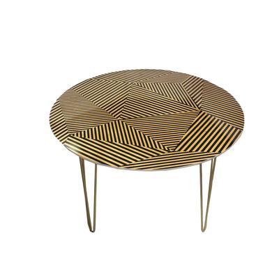 Corbin Zig Zag Geometric Dining Room Table
