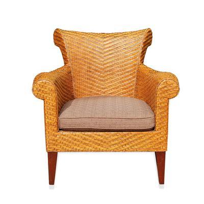 Light Brown Wicker Chair