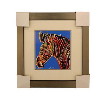 Andy Warhol Multicolor Zebra Print