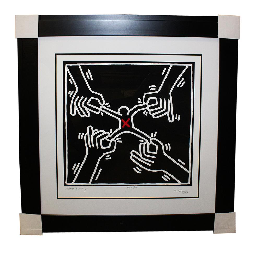 Keith Haring ' Pulling Apart ' Print