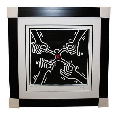 Keith Haring 'Pulling Apart' Print